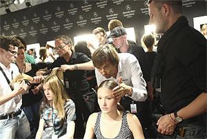 BrunsundBruns Friseuren auf der fashion week Berlin